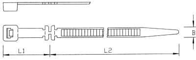 Kabelbahnsystem-Kabelbinder auch für Langlöcher